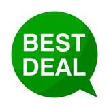 Bestes Abkommen, grüne Sprache-Blase vektor abbildung