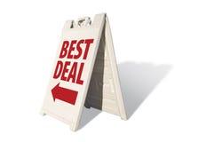 Bestes Abkommen - Zelt-Zeichen Lizenzfreie Stockfotos