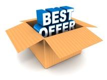 Bestes Angebot aus dem Kasten heraus Lizenzfreies Stockfoto