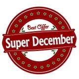 Bestes Angebot Super-Dezember lizenzfreie abbildung