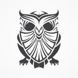 Bestes der besten kreativen grafischen Illustrationseulenlinie Vektorschattenbild-Konzeptdesign der Kunstschablone Stammes- lizenzfreie abbildung