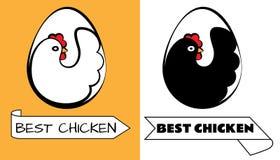 Bestes Hühnerlogo stock abbildung