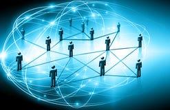 Bestes Internet-Konzept des globalen Geschäfts Technologischer Hintergrund, Symbole Wi-Fi, des Internets, Fernsehen, beweglich stockbild