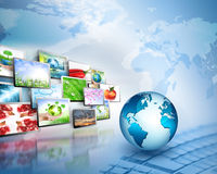 Bestes Internet-Konzept des globalen Geschäfts von der Konzeptserie Stockbild
