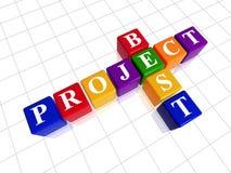 Bestes Projekt der Farbe mögen Kreuzworträtsel lizenzfreie abbildung