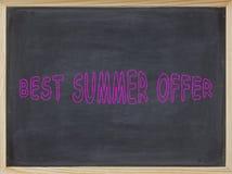 Bestes Sommer-Angebotfleisch geschrieben auf eine Tafel Lizenzfreie Stockbilder