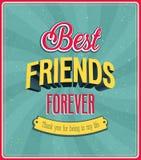 Bestes typografisches Design der Freunde für immer. stock abbildung