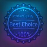Bestes wählen erstklassige Qualitätsausweisillustration Stockfotos