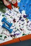 Bestes Weihnachtsgeschenk für aktive Person pilates Yogafrau gesetzte FO lizenzfreies stockfoto