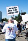 Besteuerung mit Darstellungszeichen Stockfotografie