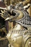 Bestia Bronze a Kathmandu Fotografia Stock