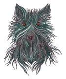 Bestia del lupo capo della preda selvaggia illustrazione vettoriale