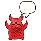 bestia dell'inferno del fumetto Fotografia Stock Libera da Diritti