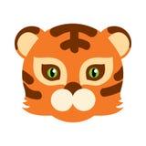 Bestia di Tiger Cat Carnival Mask Striped Orange Brown Immagini Stock