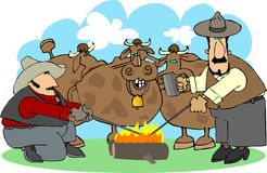 Bestiame marcante a caldo Fotografia Stock Libera da Diritti