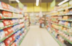 Bestimmte Abteilung mit Waren am Speicher stockfotografie