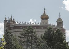 Bestimmtes Schloss mit arabischen Hauben Lizenzfreies Stockbild