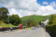Bestimmungsort Grasmere-Dorf Cumbria britischer populärer touristischer englischer See-Bezirks-Nationalpark lizenzfreie stockfotografie