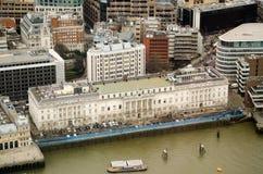 Beställnings- hus, London, från över Arkivfoton
