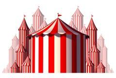 Beståndsdel för grupp för cirkustält Arkivfoto