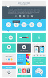 Beståndsdelar av Infographics med knappar och menyer Fotografering för Bildbyråer