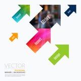Beståndsdelar för affärsvektordesign för grafisk orientering Modern abstr Fotografering för Bildbyråer