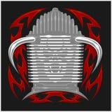 Beståndsdelar för för för för för tappningmotorcykelemblem, etikett, emblem, logo och design Monokrom stil Arkivbilder
