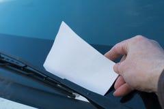 Bestraffad parkeringsdeltagare Arkivfoton