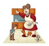 Bestrafung für Sohn Stockbilder