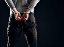 Bestrafung für sein Verbrechen Stockbild