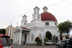 Bestreitbar die Ikone von Kota Lama Old Town von Semarang, Indonesien Stockbild