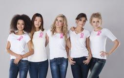 Bestrijding van borstkanker Stock Foto's