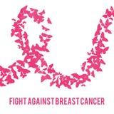 Bestrijding van borstkanker Stock Afbeeldingen