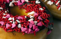 Bestrooi de Close-up van de Doughnut Royalty-vrije Stock Foto