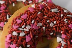 Bestrooi de Close-up van de Doughnut Stock Fotografie