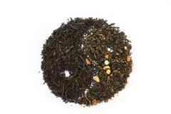 Bestrooi van groene en zwarte thee Stock Afbeelding