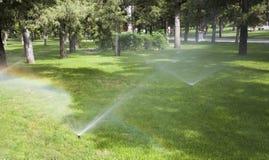 Bestrooi water royalty-vrije stock foto