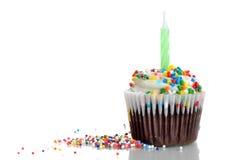 Bestrooit Cupcake royalty-vrije stock afbeeldingen