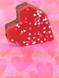Bestrooit hart Gevormde Brownies met Hart (Beeld 8.2mp) Royalty-vrije Stock Afbeelding