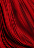 Bestruken ljus modell för krabb röd satängbakgrund Royaltyfria Foton