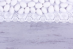 Bestruken mandelgodis för socker Royaltyfria Foton