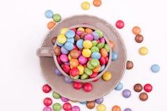 Bestrukna pills för socker Royaltyfri Foto