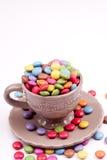 Bestrukna pills för socker Arkivbilder