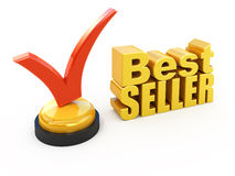 Bestseller. Concept Check mark award Stock Photo