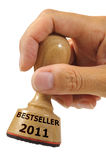 Bestseller 2011. Rubber stamp marked with BESTSELLER 2011 Stock Image
