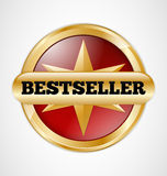 Bestseller badge. Gold and red Bestseller badge Royalty Free Stock Images