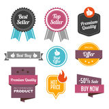 Bestseller Badges and Labels vector illustration