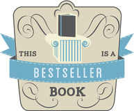 Bestseller Book. Book Style and Type Label: Bestseller Book Royalty Free Stock Photos