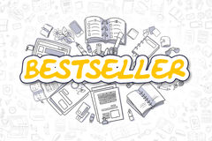 Bestseller - Cartoon Yellow Inscription. Business Concept. Royalty Free Stock Image