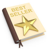 The bestseller. 3d generated picture of a bestseller book stock illustration